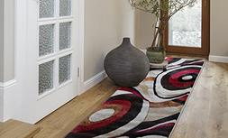 """Home Dynamix Tribeca Slade Runner Area Rug 26"""" x6', Abstract"""
