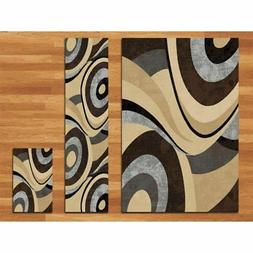 Home Dynamix Tribeca Slade Area Rug 3 Piece Set, Abstract Br