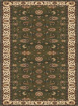 Home Dynamix Triumph Fawn 5'2 x 7'6 Area Rug in Green