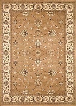 Home Dynamix Triumph Fawn 7'9 x 10'2 Area Rug in Gold