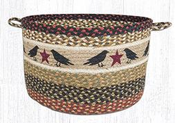 Earth Rugs UBPLG-019 Crow and Star Printed Utility Basket, L