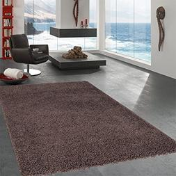Ottomanson Ultimate Shaggy Dark Brown Solid Area Rug