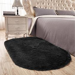 Junovo Ultra Soft Modern Fluffy Area Rug for Living Room Bed