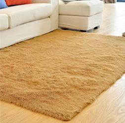 Ultra Soft Thick Indoor Morden Shaggy Area Rugs Pads Antiski