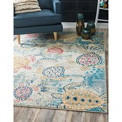 Underwater Sea Turtles Design Area Rug, Featuring Nautical A