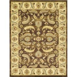 Unique Loom Voyage Brown Area Rug Floor Carpet 9X12 Floral R