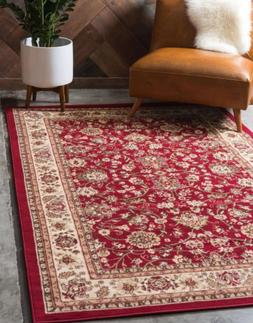Ruggable Unique Washable Runner Area Rug Home Decor Red Mat