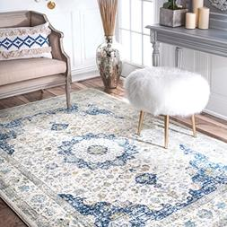 nuLOOM Traditional Vintage Distressed Persian Area Rugs, 3'