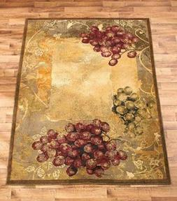 Vineyard Area Rug Grapes Grapevine Rustic Tuscan Country Hom