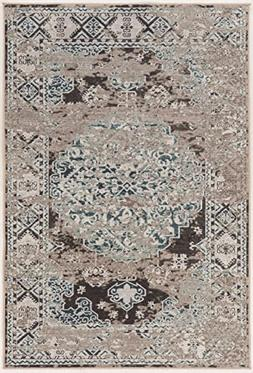 Linon Vintage Collection Nain Synthetic Rugs, 8' x 10', Gray