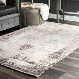 nuLOOM Vintage Distressed Abstract Cotton Blend Area Rug in