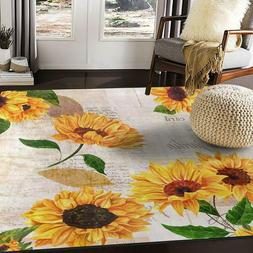 Alaza Vintage Sunflower Butterfly Oil Painting Artwork Area