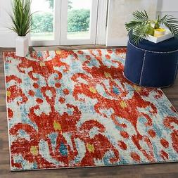 Safavieh Watercolor Red/ Blue Area Rug - 8' x 10'