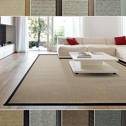 iCustomRug Zara Contemporary Synthetic Sisal Rug, Softer Tha